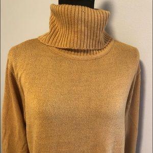 Turtle neck sweater .